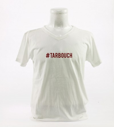 t-shirt coton bio blanc manches courtes homme #Tarbouch